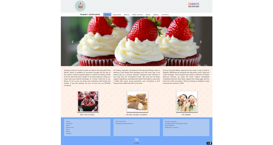Yummy Cupcakes website