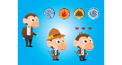 Unnamed Monkey Runner game characters