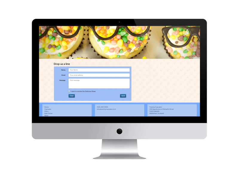 Yummy Cupcakes contact form