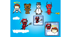 Swingy Angie characters and icons